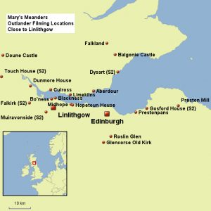 Outlander Tours Map with Mary's Meanders